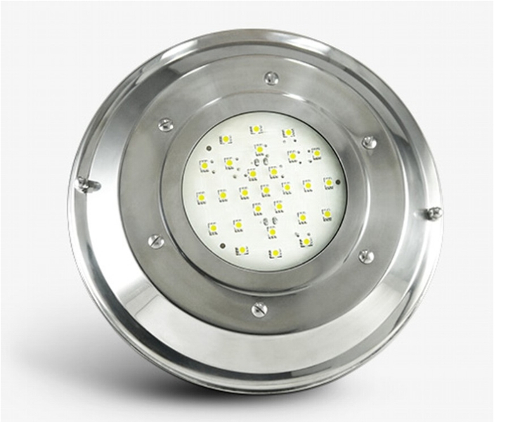 Optica Acero Inox Grande Led LCI 3w 135mm title=